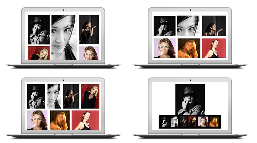 Multiple gallery layouts to choose from